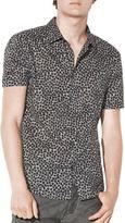 John Varvatos Floral Print Cotton Shirt