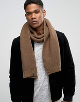 Selected Homme Scarf In Textured Knit