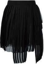 DSQUARED2 asymmetric pleated skirt