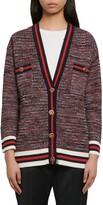 Sandro Dyna Oversize Tweed Cardigan