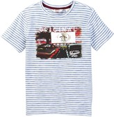 Original Penguin Drive-In Striped Short Sleeve Tee (Little Boys)