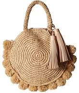 Loeffler Randall Straw Circle Tote Tote Handbags