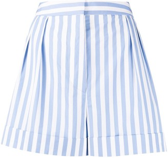 Marni Striped High-Waisted Shorts