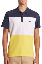 Lacoste Colorblock Textured Pique Polo