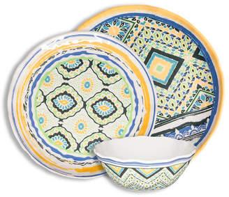 222 Fifth Porto Santo Mixed 12 Piece Melamine Dinnerware Set