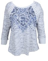 Miss Me Women's Long Sleeve Print Pullover