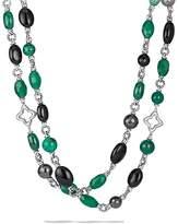 David Yurman Bead Necklace with Black Onyx & Green Onyx