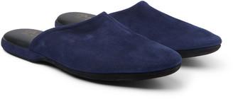 Charvet Suede Slippers - Men - Blue