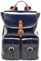 Aspinal of London Women's Oxford Backpack Blue Moon/Tan