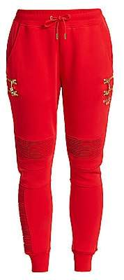 Balmain PUMA x Women's Puma x Biker Red Sweatpants