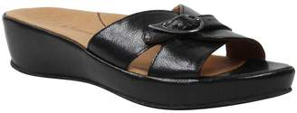 L'amour Des Pieds L'Amour Des Pieds Leather Low-Wedge Sandals - Cheyne