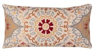 """Rizzy Home 11"""" x 21"""" Medallion Poly Filled Pillow"""