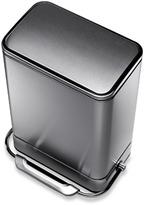 Simplehuman 38-Liter Rectangular Fingerprint Proof Steel Bar Step Trash Can
