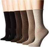 Lauren Ralph Lauren Rolltop Trousers 6-Pack Women's Crew Cut Socks Shoes