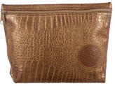 Carlos Falchi Embossed Leather Pouch