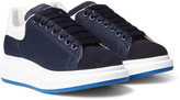 Alexander Mcqueen - Exaggerated-sole Mesh, Leather And Suede Sneakers