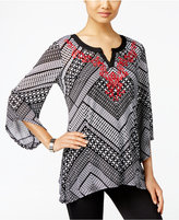 JM Collection Embroidered Top, Only at Macy's
