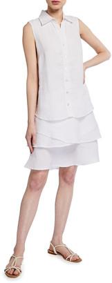 Finley Jasmine Sleeveless Tiered Linen Dress