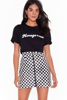Nasty Gal nastygal A Night on the Tiles Checkerboard Skirt