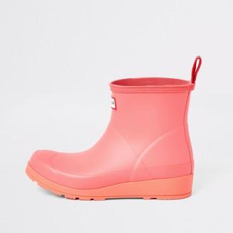 Hunter Wellies River Island Womens Hunter Original Pink short wellington boots