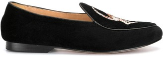 Shanghai Tang x Bing Xu embroidered loafers