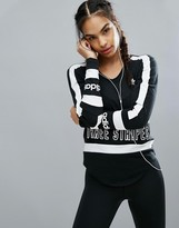 adidas Long Sleeve T-Shirt With Three Stripe Block Logo