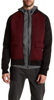 Kenneth Cole New York Long Sleeve Colorblock Bomber Jacket