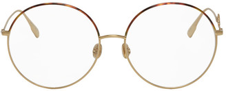 Christian Dior Gold and Tortoiseshell DiorSignature2 Glasses