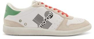 Isabel Marant Bulian Logo-print Leather Trainers - Green White