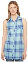 Roper 0854 Turquoise Plaid Sleeveless Shirt Women's Sleeveless