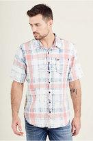 True Religion Short Sleeve Roll Up Mens Shirt