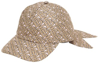 Burberry Tb Monogram Print Silk Baseball Hat