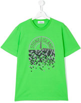 Stone Island Junior - logo print T-shirt - kids - Cotton - 14 yrs