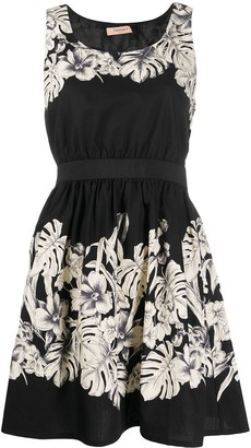 Twin-Set floral-print fit-and-flare dress