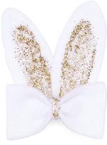 Jean Marie White & Gold Glitter Bunny Bow Clip