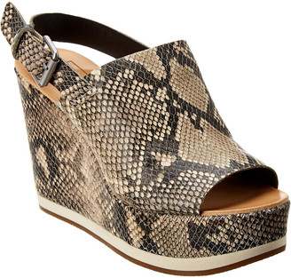 Dolce Vita Shan Leather Wedge Sandal