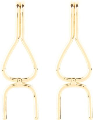 Shop Lausanne Gold Wishbone Dangle Earrings