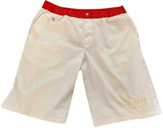 Dolce & Gabbana White Polyester Swimwear