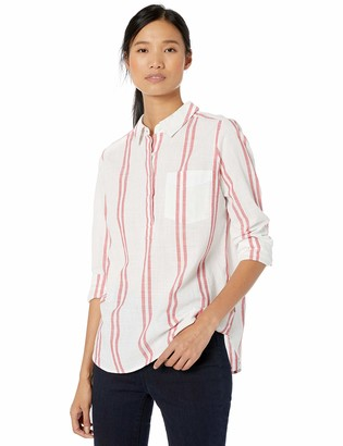 Goodthreads Amazon Brand Women's Washed Cotton Popover Shirt