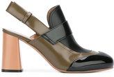 Marni sling back moccasin pumps - women - Leather - 37