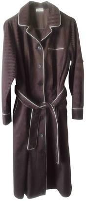 Dries Van Noten Burgundy Cotton Dresses