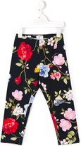 MonnaLisa floral print leggings - kids - Cotton/Spandex/Elastane - 4 yrs