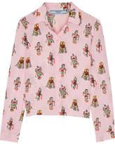 Prada Printed Silk Crepe De Chine Shirt - Pastel pink
