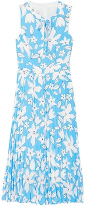 Donna Morgan Floral Sleeveless Pleated Midi Dress