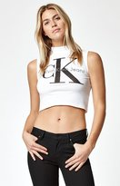 Calvin Klein Mock Neck Cropped Tank Top