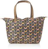Orla Kiely Mini Wild Daisy Printed Zip Shopper