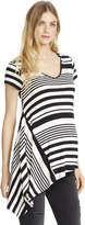 Motherhood Jessica Simpson Trapeze Maternity T Shirt- Black/white