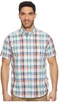 Nautica Short Sleeve Large Scale Plaid Woven Shirt Men's Clothing