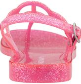 Old Navy Girls Peace-Sign Glitter Sandals