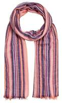 MANGO Multicolor striped scarf